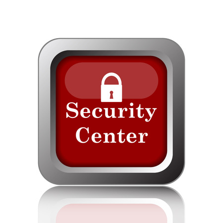 Security center icon. Internet button on white background Stock Photo