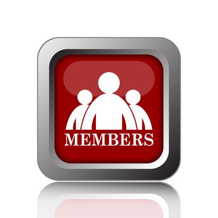 fellowship: Members icon. Internet button on white background Stock Photo