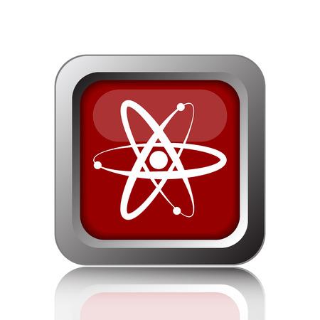 gamma radiation: Atoms icon. Internet button on white background