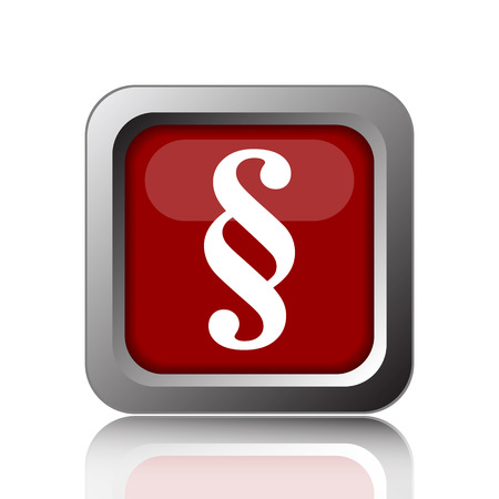 paragraph: Paragraph icon. Internet button on white background Stock Photo