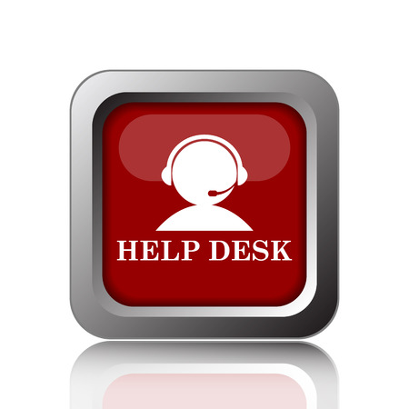helpdesk: Helpdesk icon. Internet button on white background