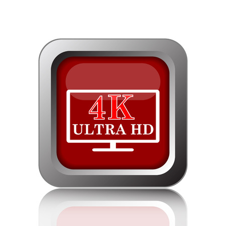 ultra: 4K ultra HD icon. Internet button on white background