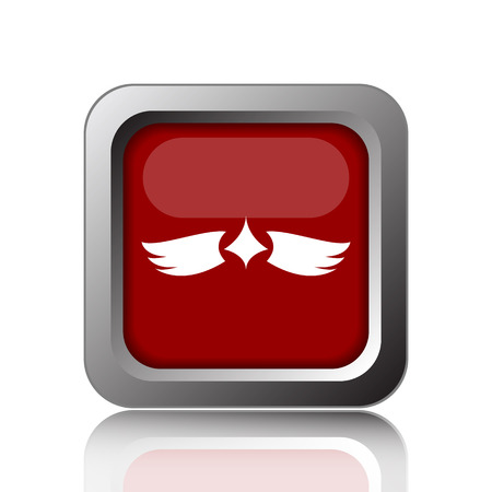 chastity: Wings icon. Internet button on white background Stock Photo