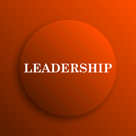 superintendence: Leadership icon. Internet button on orange background