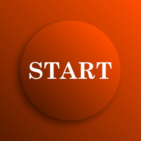 proceed: Start icon. Internet button on orange background