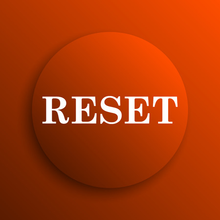 redesign: Reset icon. Internet button on orange background