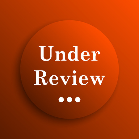 reviewed: Under review icon. Internet button on orange background
