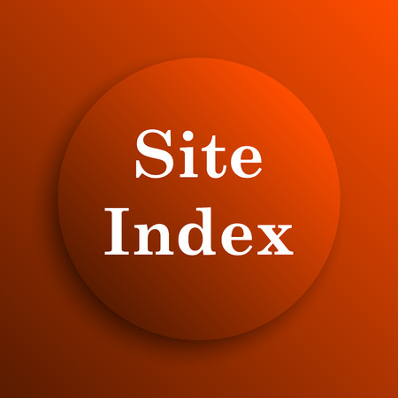 teaser: Site index icon. Internet button on orange background Stock Photo