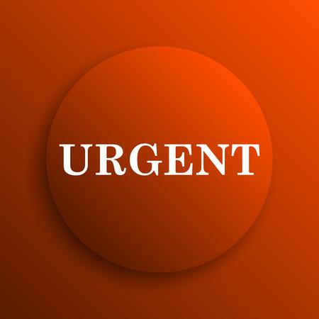 urgent: Urgent icon. Internet button on orange background