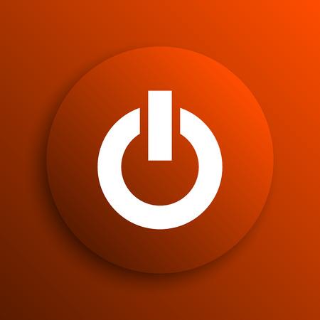 clean off: Power button icon. Internet button on orange background