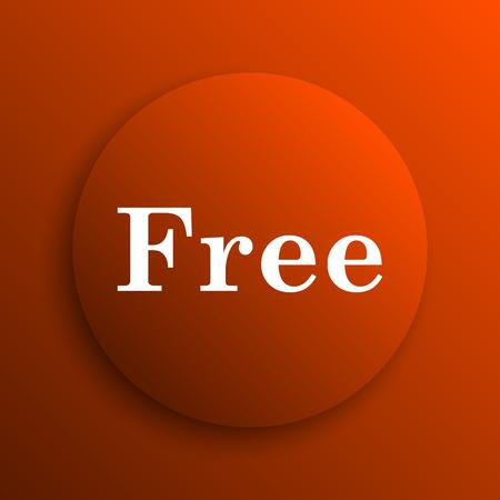 gratuity: Free icon. Internet button on orange background