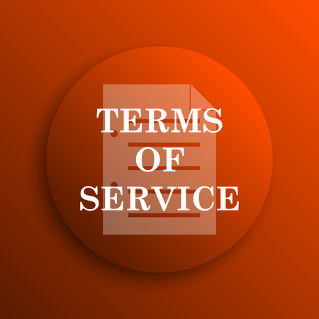 terms: Terms of service icon. Internet button on orange background Stock Photo