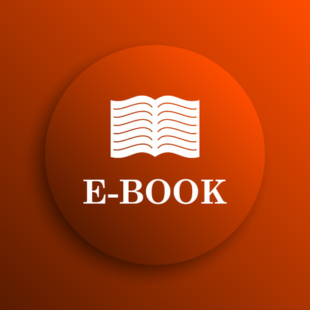 audiobook: E-book icon. Internet button on orange background