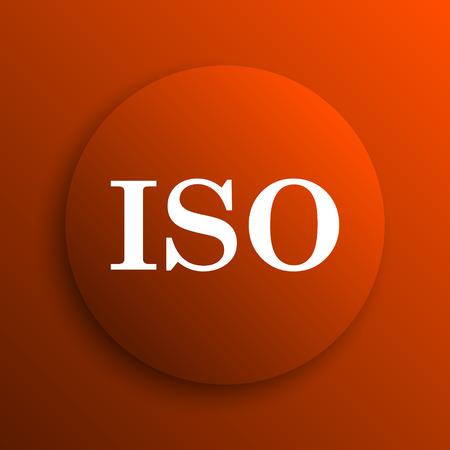 norm: ISO icon. Internet button on orange background
