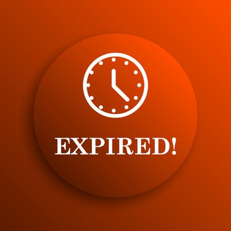 expired: Expired icon. Internet button on orange background
