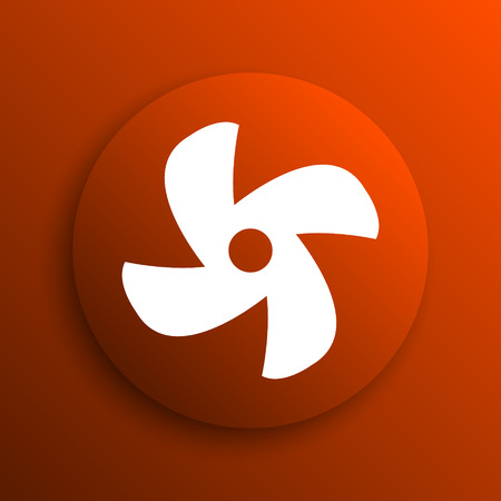 conditioned: Fan icon. Internet button on orange background