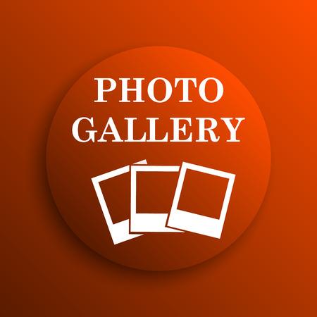 foto: Photo gallery icon. Internet button on orange background