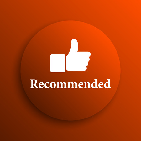 recommendations: Recommended icon. Internet button on orange background