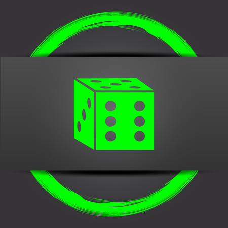 odds: Dice icon. Internet button with green on grey background.