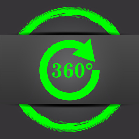 restoring: Reload 360 icon. Internet button with green on grey background.