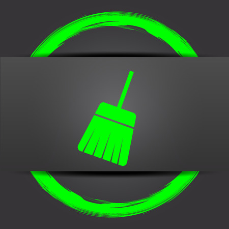 sweep: Sweep icon. Internet button with green on grey background.