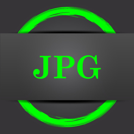 display type: JPG icon. Internet button with green on grey background. Stock Photo