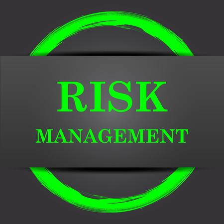 seguridad e higiene: Icono de la gestión de riesgos. Botón de Internet con verde sobre fondo gris.