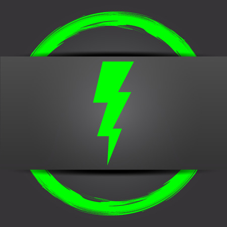 voltage gray: Lightning icon. Internet button with green on grey background.