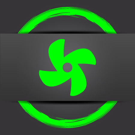 conditioned: Fan icon. Internet button with green on grey background.