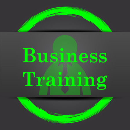 idea hurdle: Business training icon. Internet button with green on grey background. Stock Photo