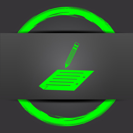 subscribing: Subscribe icon. Internet button with green on grey background.