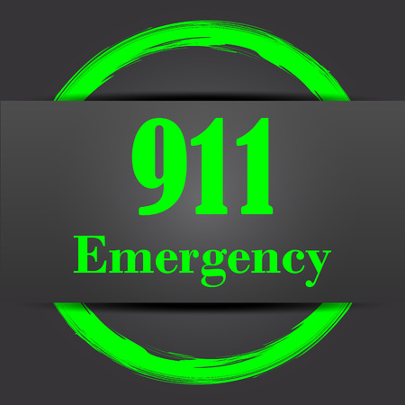 bad service: 911 Emergency icon. Internet button with green on grey background.