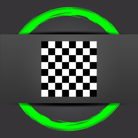 finish flag: Finish flag icon. Internet button with green on grey background. Stock Photo
