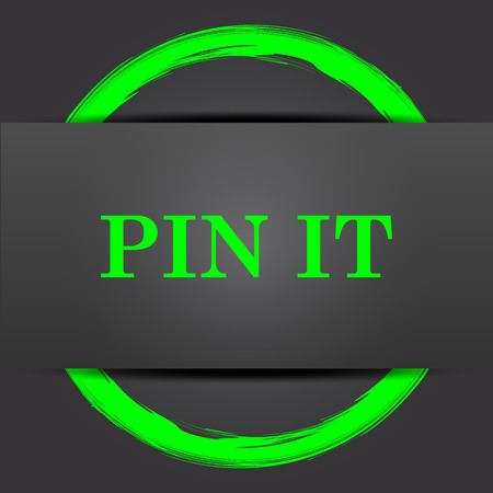 green it: Pin it icon. Internet button with green on grey background.