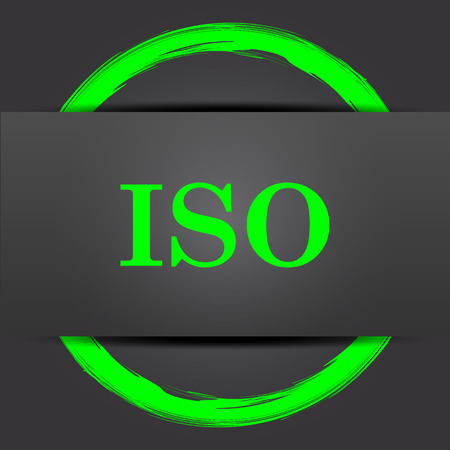 norm: ISO icon. Internet button with green on grey background.