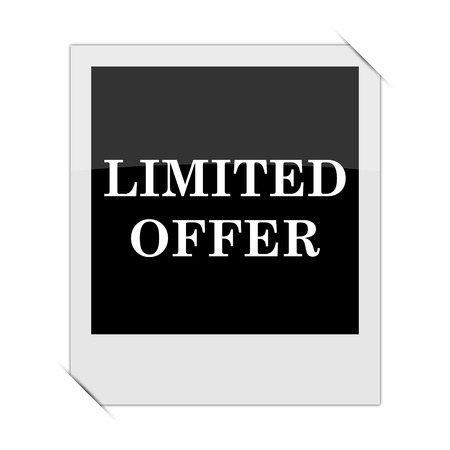 auction off: Limited offer icon within a photo on white background Stock Photo