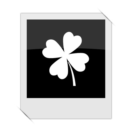 clover icon: Clover icon within a photo on white background