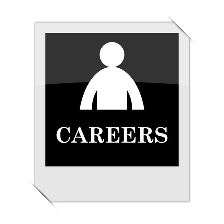 Careers icon within a photo on white background
