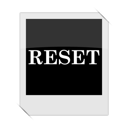 revision: Reset icon within a photo on white background