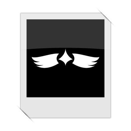 chastity: Wings icon within a photo on white background