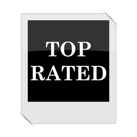 top class: Top rated  icon within a photo on white background