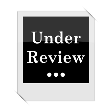canceled: Under review icon within a photo on white background