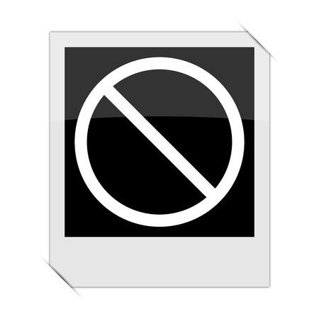 disallowed: Forbidden icon within a photo on white background