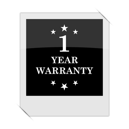 1 year: 1 year warranty icon within a photo on white background