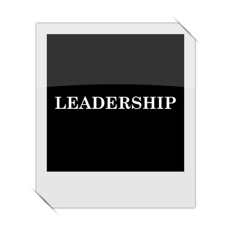 superintendence: Leadership icon within a photo on white background