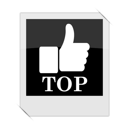 best rated: Top icon within a photo on white background