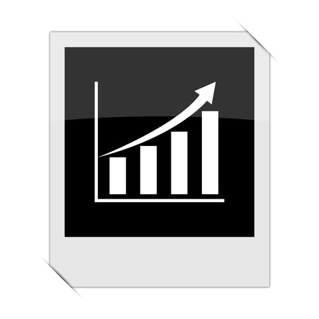 inventor: Chart icon within a photo on white background Stock Photo