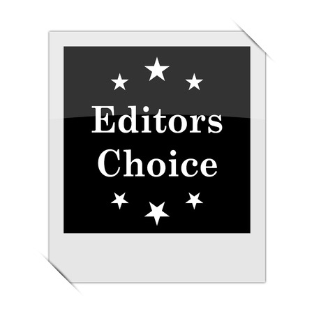 editors: Editors choice icon within a photo on white background