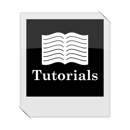 tutoriels: Tutorials icon within a photo on white background