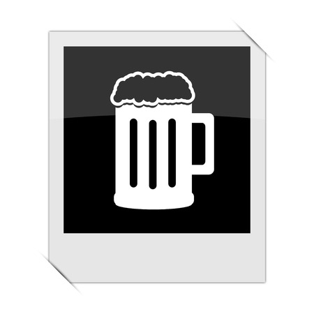 bierglas: Beer icon within a photo on white background